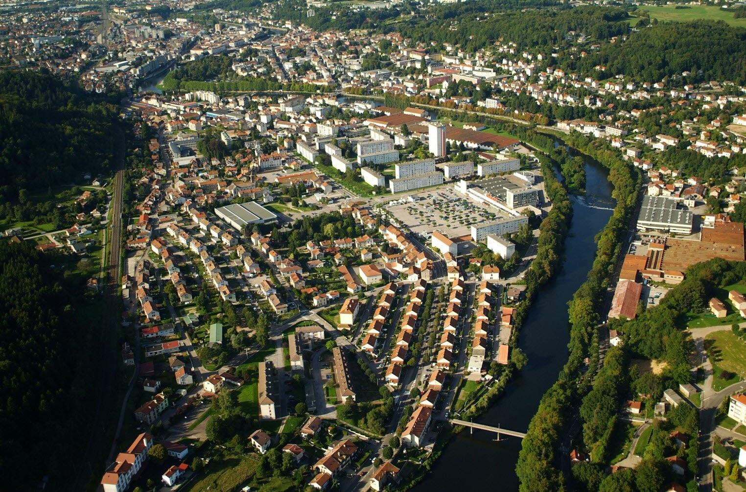 Épinal- quartiers Bitola, Champeauvert et berges de Moselle