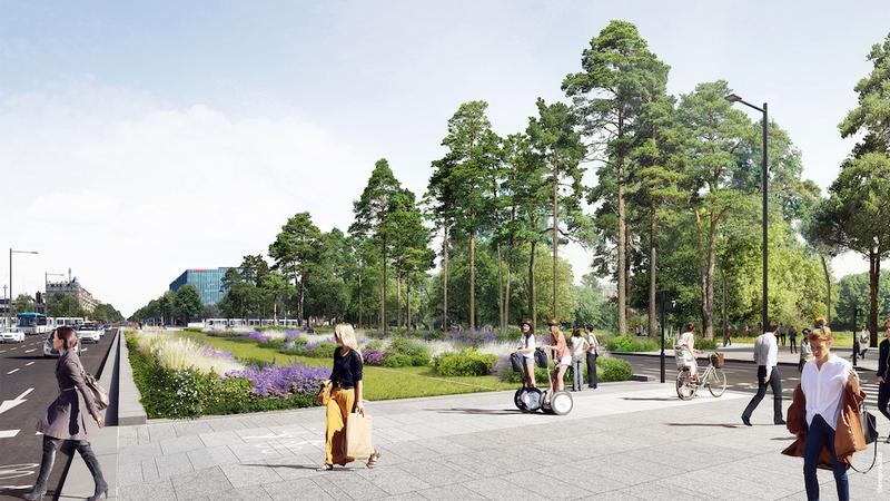 Porte Maillot - Projet de réaménagement des espaces publics